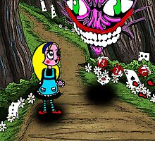 Alice and the cheshire cat... by cherrytops