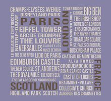 France, London, Scotland, Paris by Subwaysign