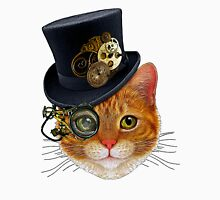 Orange Cat with Steampunk Hat and Monocle Unisex T-Shirt