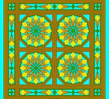Flower Wheel Window 11 by Syzygy