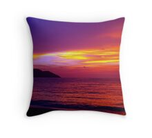 The Day Ends Purple Throw Pillow