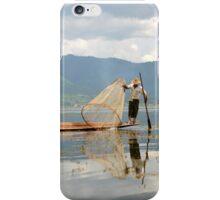 Fishing on Inle Lake Myanmar iPhone Case/Skin