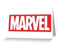 Marvel Logo Greeting Card