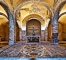 800 Year Old Chapel in Anagni Italy by Warren. A. Williams