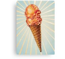 Strawberry Double Scoop Canvas Print