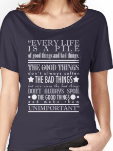 Doctor Who Quote Poster Women's Relaxed Fit T-Shirt