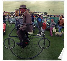 Man on a Penny Farthing Poster