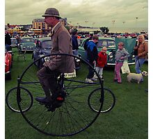 Man on a Penny Farthing Photographic Print