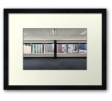 Office Window Framed Print