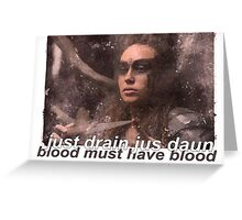 lexa Greeting Card