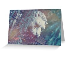Haunted Lion Greeting Card
