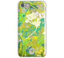 Wacky Retro Floral Abstract iPhone Case/Skin