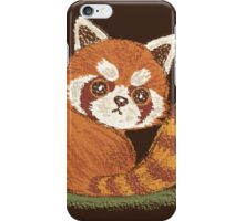 Red Panda look back iPhone Case/Skin