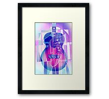 5161i Guitar with Face Framed Print
