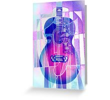 5161i Guitar with Face Greeting Card