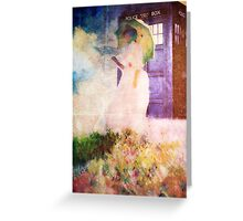 Time Travel In Art Greeting Card