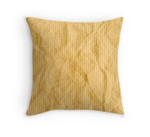 Brown wrapping paper Throw Pillow