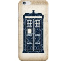 Filigree TARDIS Paper iPhone Case/Skin