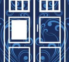 Blue Filigree TARDIS Sticker