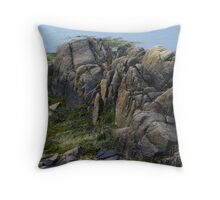 Large Rocks and Seaweed Throw Pillow