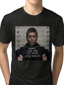 Supernatural - Dean Winchester Mugshot Tri-blend T-Shirt