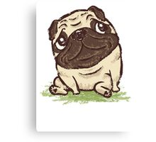 Pug that relaxes Canvas Print