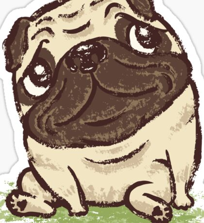 Pug that relaxes Sticker