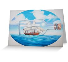 """""""Ship in a Bottle"""" Greeting Card"""