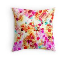 multi coloured Painted Background Throw Pillow