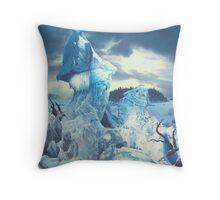 """Along the Frozen Lake"" Throw Pillow"