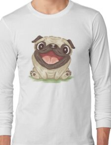 Happy Pug Long Sleeve T-Shirt