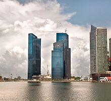 Singapore, City Skyline @ Marina Bay by Charuhas  Images