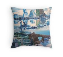 """""""Strange Perspectives on the Edge of a Frozen Eternity"""" Throw Pillow"""