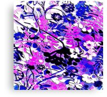 Wacky Retro Floral Abstract Canvas Print