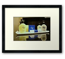 Disneyland Hotel Toiletries 2011 Suite Framed Print