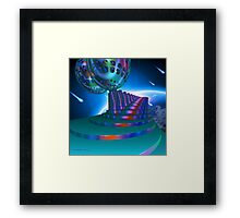 Walk Right Up to the Meteor Shower Framed Print