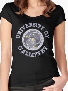 University Of Gallifrey (Black/Dark Colours) Women's Fitted Scoop T-Shirt