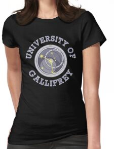 University Of Gallifrey (Black/Dark Colours) Womens Fitted T-Shirt