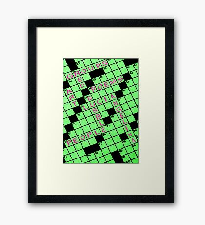 Red Bubble Puzzle Framed Print