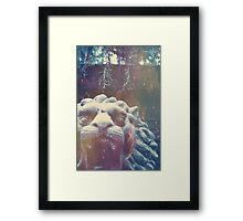 Haunted Courage  Framed Print