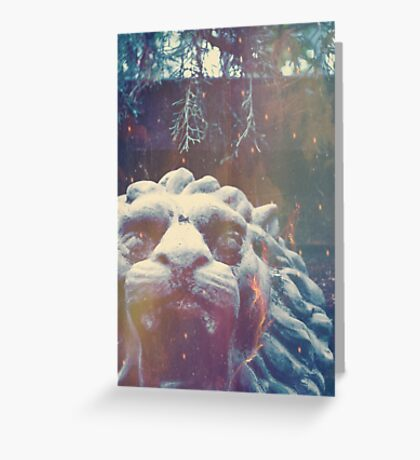 Haunted Courage  Greeting Card