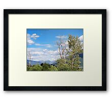 Badrock Canyon Framed Print