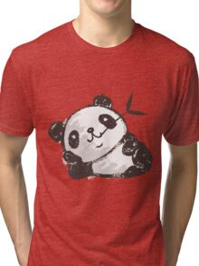 Panda that is relaxing Tri-blend T-Shirt