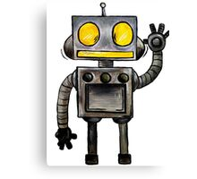 Cartoon Robot Canvas Print