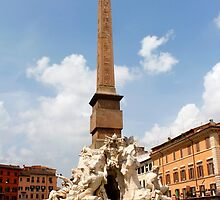 Fountain of the Four Rivers Rome Italy by jwwallace