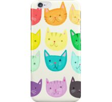 Rainbow Cats - Cute Cats - Colorful Cats  iPhone Case/Skin