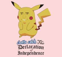 Gotta Catch the Declaration of Independence Kids Tee