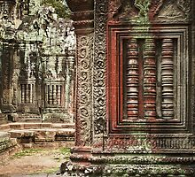 Temple wall, Cambodia by JoshWaynPhoto