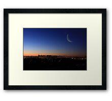 The Crescent Framed Print