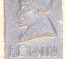 Lenin stone (1870 - 1924) - Memento Park, Budapest by waynebolton